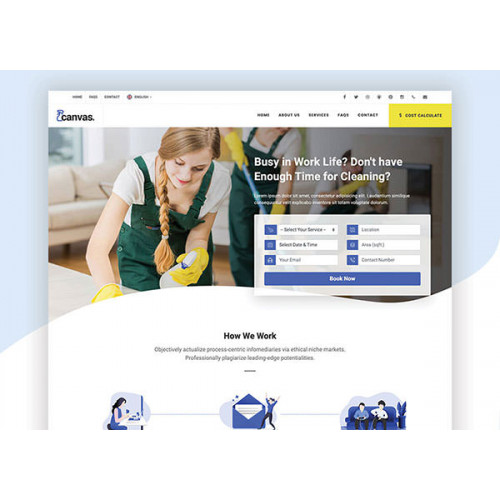 Шаблон сайта клининговая компания