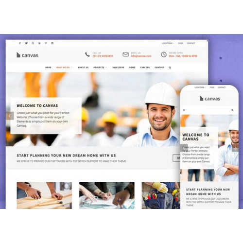 Шаблон сайта компании - Строительство-1