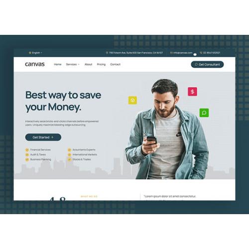 Шаблон сайта компании - Финансы
