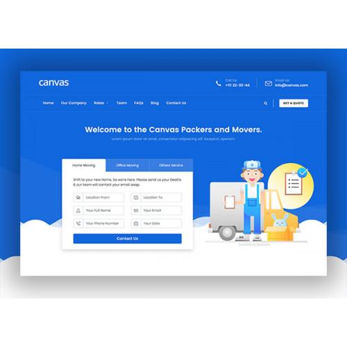 Шаблон сайта компании - Переезд