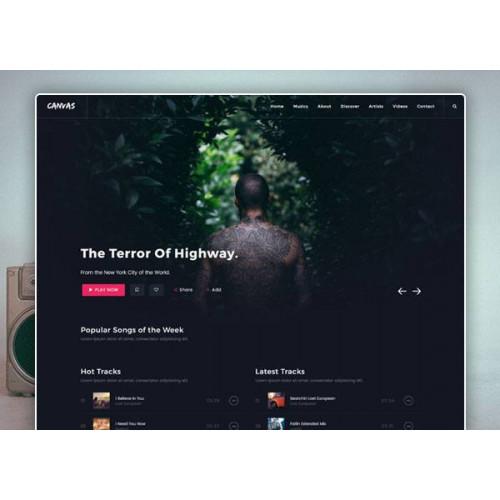 Шаблон сайта компании - Музыка